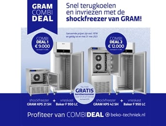 Gram freezing combideals 'shocking goedkoop'